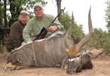 Steve and Diane with his Nyala