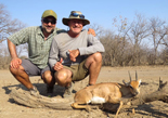 Payam and Dezzie with Charging Steenbok