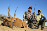 Emilio and Tracker Albert with Limpopo Bushbuck