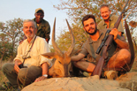 The team with Chobe Bushbuck